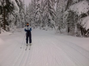 Sovereign Lake cross country ski trails
